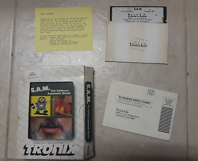 """S.A.M. Atari 400/800/1200/XL/XE Don't Ask 5.25"""" SAM the Automatic Mouth Software"""