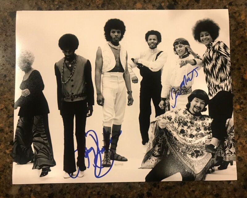 * LARRY GRAHAM & JERRY MARTINI * signed 11x14 photo * SLY & THE FAMILY STONE * 3