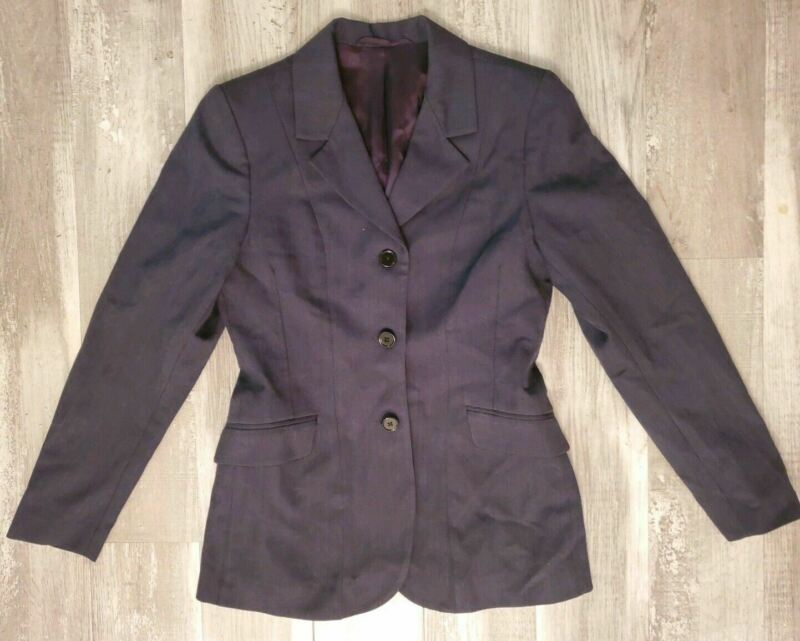 ON COURSE Riding Jacket Youth 8 R Show Coat 100% Wool Girls Pin Stripe
