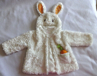 Gund Baby Boy Girl 6-12 Months White Rabbit Easter Bunny Coat Jacket Costume Top](Infant White Rabbit Costume)