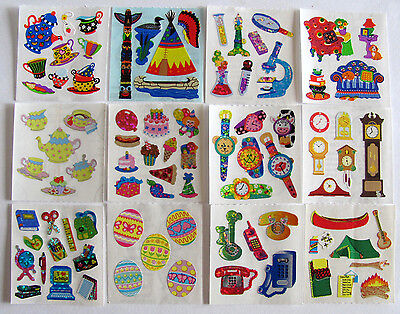 Vintage Sandylion Tea Time School Fun Party Camping Stickers Glitter -You Choose