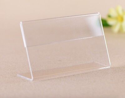 12pcs Vertically Clear Acrylic Sign Holder Price Stand Lable Display Mounts Rack Clear Acrylic Sign Holder