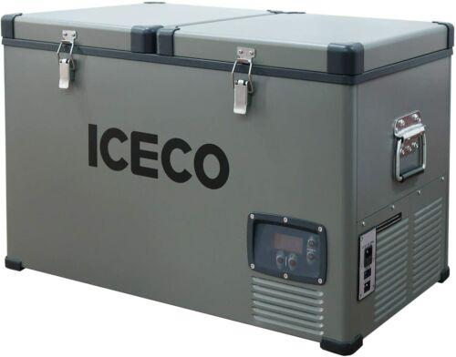 65QT Dual Zone Portable Refrigerator Fridge 12V Freezer With Compressor Camping
