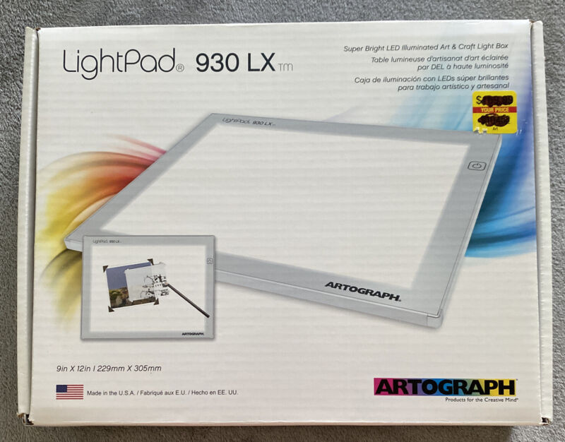 Artograph LightPad 930LX Light Table Tracer 9x12 Brand New Artists LED Light Pad