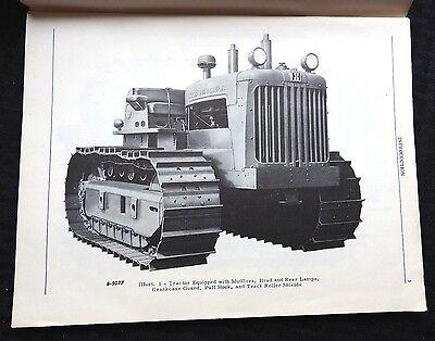 1950 International Harvester Td-24 Crawler Tractor Operators Manual Very Nice
