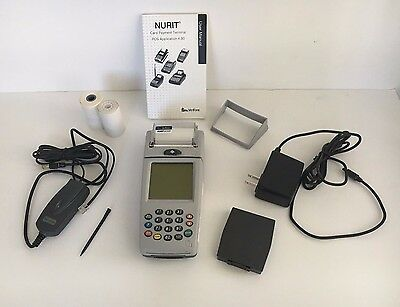 Lipman Nurit 8000 8000s Wireless Palmtop Solution Credit Card Terminal Machine