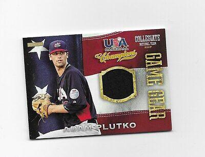 2013 USA Baseball Champions Game Gear Jerseys #39 Adam Plutko  Indians