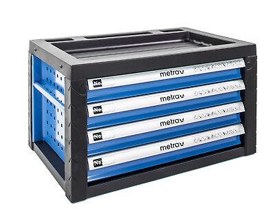 Werkzeugkiste, Werkstattwagen Aufsatz 4 Schubladen, Aufsatz in blau