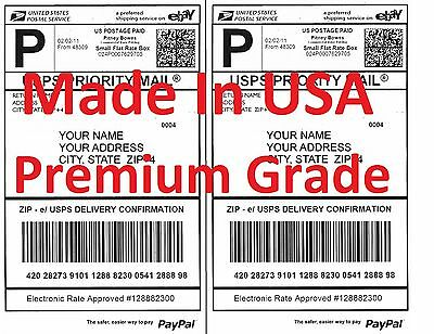 500 Premium Shipping Labels-made In Usa-self Adhesive-usps Ups Fed-8.5x11