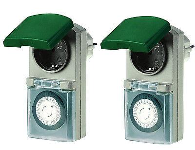 analoge outdoor zeitschaltuhr analog steckdose uhr schutz au enbereich ip44 sonstige. Black Bedroom Furniture Sets. Home Design Ideas