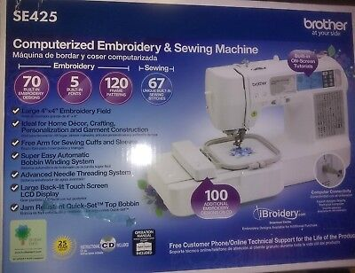 BROTHER SE425 COMPUTERIZED EMBROIDERY & SEWING MACHINE  TOUCHSCREEN