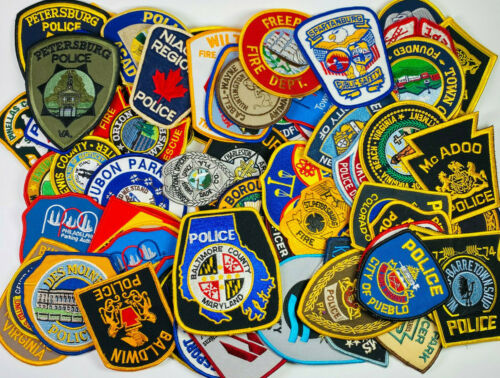80 Police Sheriff Fire EMS Security Patches Huge Collection Lot (A)