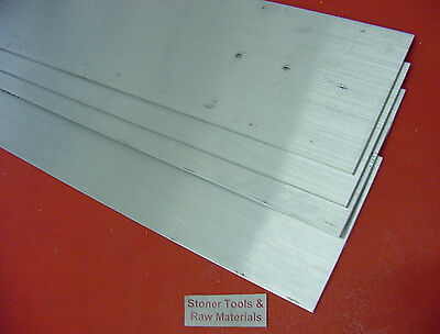 4 Pieces 18 X 3 Aluminum 6061 Flat Bar 14 Long T6511 New Mill Stock .125x 3