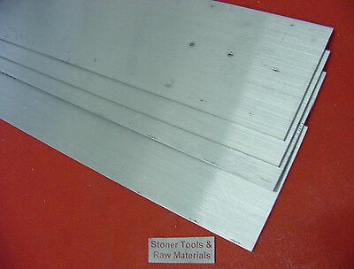 4 Pieces 18 X 3 Aluminum 6061 Flat Bar 14 Long T6511 New Mill Stock .125x 3