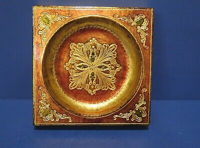 Vintage Florentia Tray (Ashtray) Italian Hand Made Gold Bronze Colors