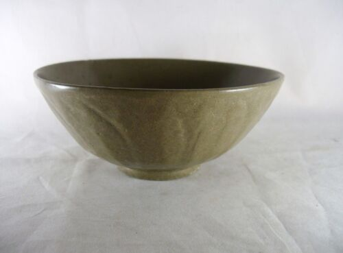 Chinese MING Celadon Lotus Bowl 6-1/2 In Antique