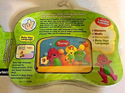 V-smile Baby V-tech Learning Games Barney Let's Go To A Party Cartridge NEW