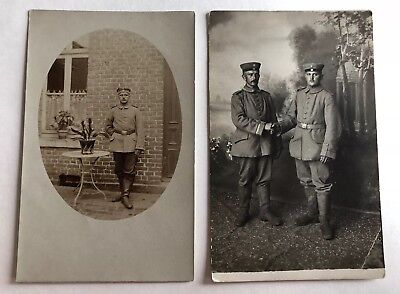 Lot of 2 Old RPPC Real Photo Postcard WWI RUSSIAN IMPERIAL Army Soldiers
