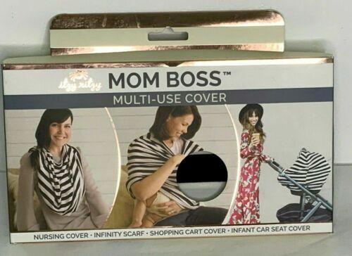 Itzy Ritzy Mom Boss 4in1 Multi-Use Cover Nursing Shopping Cart Car Seat B&W NEW