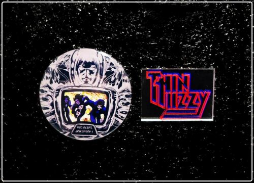 Thin Lizzy Jailbreak Button & Mirror Pin Badge