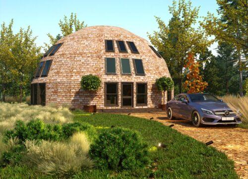 MOON HOUSE STRUT FRAMING KIT FOR 2345 sq.ft DOME HOME 45ft DIAM. WOOD PREFAB DIY