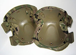 MULTICAM-CAMO-ATACS-OR-TAN-CORDURA-X-FIT-TACTICAL-KNEE-ELBOW-PADS-HARD-SHELL
