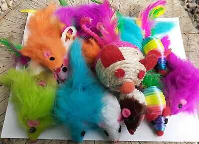 Mice Cat Toy SAMPLER Mouse Lot Of 25 - $8.88