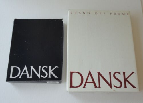 2 New In Box Dansk Designs Picture Frames Stand Off Modern Siero & Green Willow