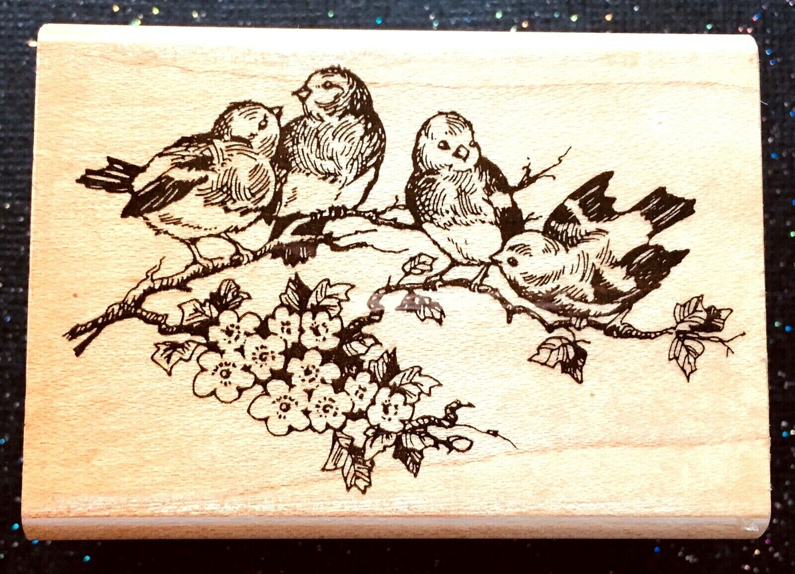 Vintage Rubber Stamp Blue Bird Chatter Stampendous 1 3/4 X 2 1/2  - $5.50