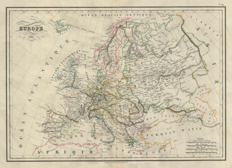 1835 Malte-Brun Map of Europe