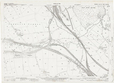 Grimethorpe & Houghton Junctions - Yorks old map repro 275-6-1931