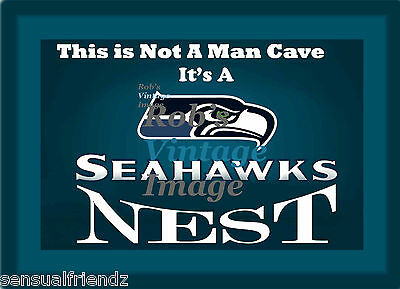 Seattle Seahawks Nest Man Cave Sign Poster NFL Football 8