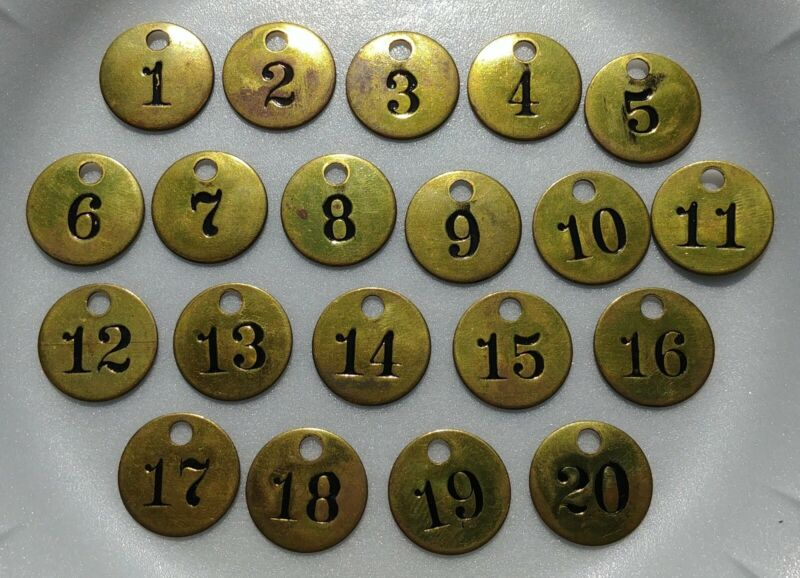 Vintage/Antique Brass Cattle Tag Set (50% OFF CHRISTMAS SALE ONLY. $50 FIRM)