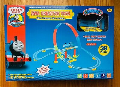 Toys Train Set Rolling Rail Road 39 Pieces 360 Rotation, battery operated. Gear Set Toys