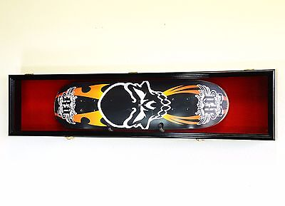 Single Skateboard Deck Display Case Cabinet Rack Wall Hol...