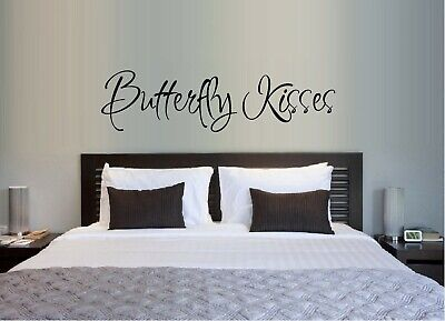 Butterfly Kisses Vinyl Wall Decal Sticker Home Decor Bed Room