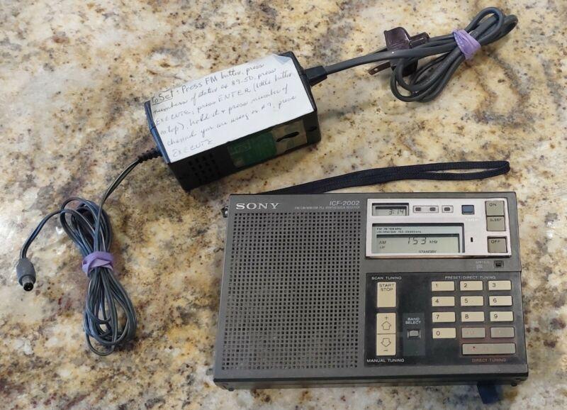 Vintage SONY ICF-2002 Synthesized RADIO RECEIVER Shortwave