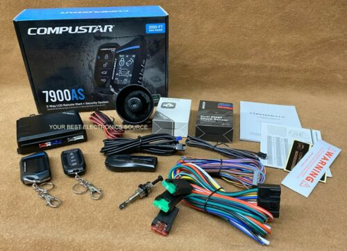 NEW Compustar CS7900AS 2-Way Paging Remote Start/Alarm w/ LCD Remote