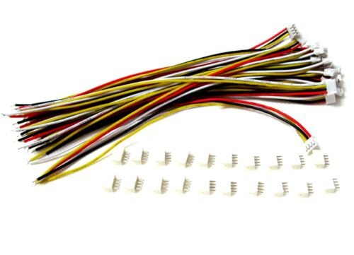 Lot 40 SETS Mini Micro ZH 1.5 4-Pin JST Connector with Wires Cables