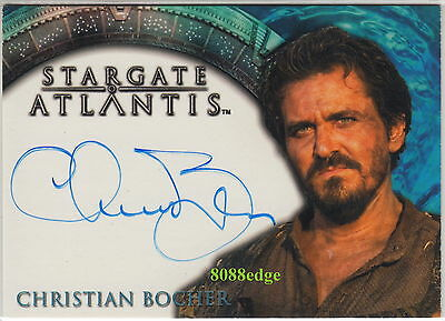 "2005 STARGATE ATLANTIS AUTO: CHRISTIAN BOCHER-AUTOGRAPH ""FOG/DAEDALUS ENCOUNTER"""