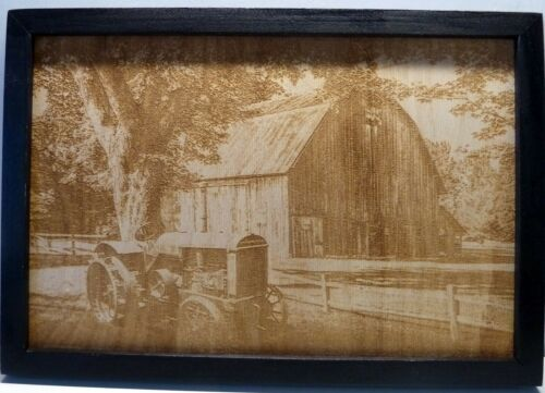 Barn+Scene+Wood+Engraved+Plaque%2CWall+Art%2C+Landscape+Art%2CWall+Hanging%2CDisplay