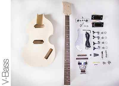 NEW DIY Electric Bass Guitar Kit - Violin Bass Build Your Own