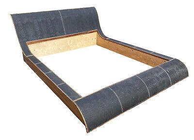 Stunning Vintage Crocodile Skin / Zebrano Wood Super King Size Bed Frame