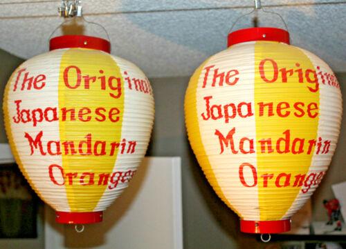 2x Japanese Lanterns The Original Japanese Mandarin Oranges Vintage Advertising