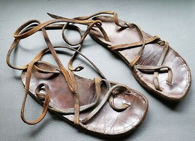 WWII WW2 US Army Japanese Prisoner of War Leather Sandals