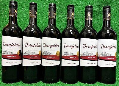 (4,11,€/l) 6x Wein Genuss Dornfelder Rotwein lieblich 0,7l Liter Flasche