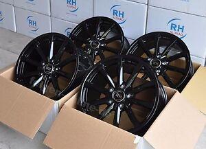 RH GT Porsche schwarz Felgen 8,5x19 + 10x19 Zoll Porsche Boxster + Cayman 987