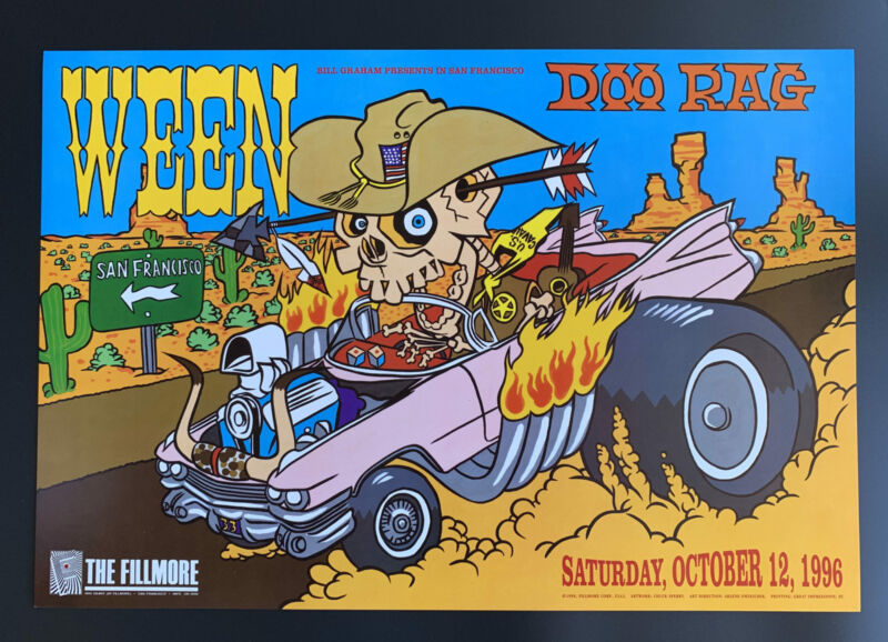 Ween Concert Poster 1996 F-242 Fillmore