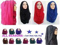 Il Più Recente Maglia Elasticizzato Hijab Taglia Grande Tinta Unita Lycra Maxi - lycra - ebay.it