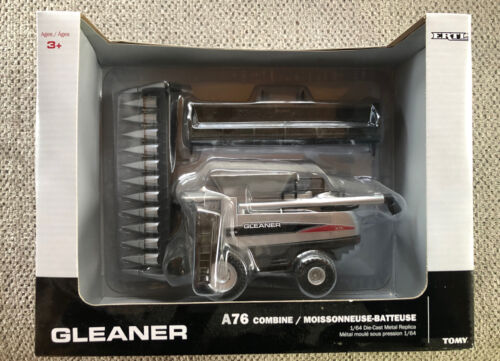 ERTL Gleaner A76 Combine 1/64 Tomy Farm Toy Tractor 350 HP 2 Heads